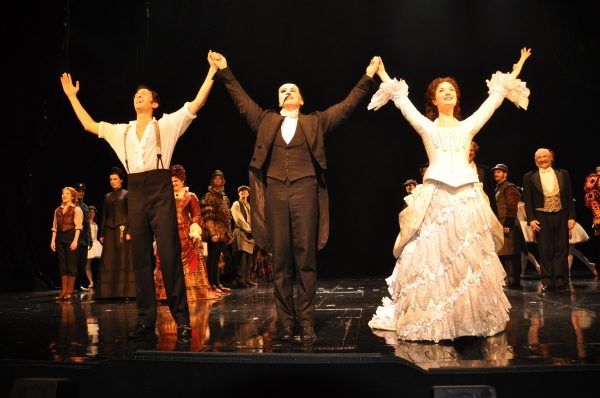 Kyle Barisich, Hugh Panaro and Sierra Boggess