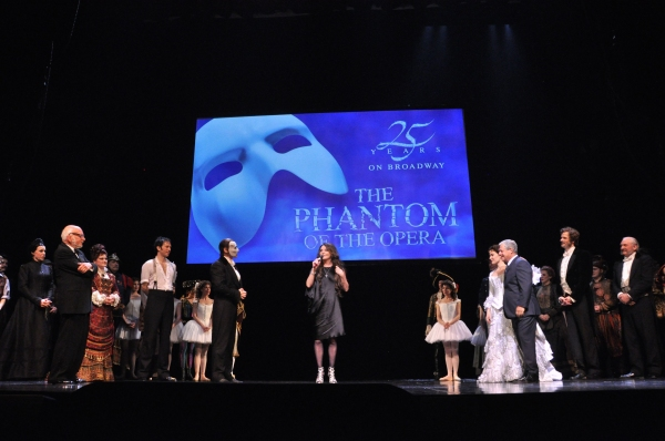 Hal Prince, Kyle Barisich Hugh Panaro, Sarah Brightman, Sierra Boggess and Cameron Mackintosh