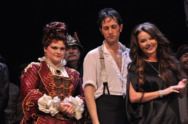 Michele McConnell, Kyle Barisich and Sarah Brightman
