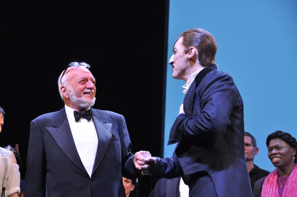 Hal Prince and Hugh Panaro