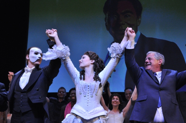 Hugh Panaro, Sierra Boggess and Cameron Mackintosh