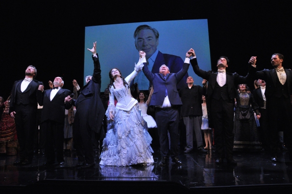 John Owen Jones, Hal Prince, Hugh Panaro, Sierra Boggess, Cameron Mackintosh, Ramin Karimloo and Peter Joback