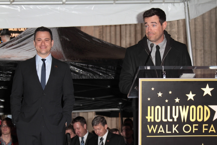 High Res Mandatory Credit: Photo by Jim Smeal / BEImages (1223640u)Jimmy Kimmel and Carson DalyJimmy Kimmel Honored With Star On The Hollywood Walk Of Fame, Los Angeles, America - 25 Jan 2013