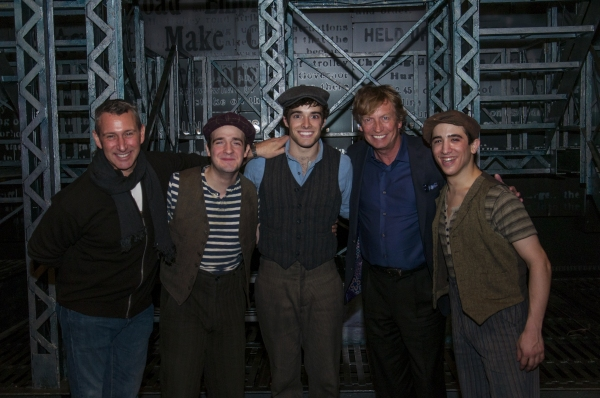 Adam Shankman, Evan Kasprzak, Corey Cott, Nigel Lithgoe, Jess LeProtto at Nigel Lythgoe and Adam Shankman Have SYTYCD Reunion at NEWSIES!