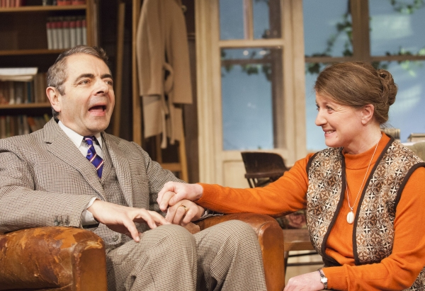 Rowan Atkinson and Felicity Montagu