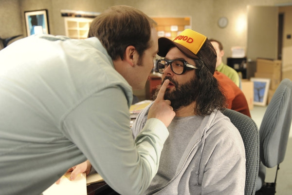 "30 ROCK -- ""Part 1: Hogcock! Part 2: Last Lunch"" Episode 712/713 -- Pictured: (l-r) John Lutz as Lutz, Judah Friedlander as Frank -- (Photo by: Ali Goldstein/NBC)"