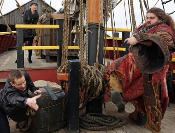 JOSH DALLAS, GINNIFER GOODWIN, JORGE GARCIA at ONCE UPON A TIME's 'Tiny' Episode, Airing 2/10