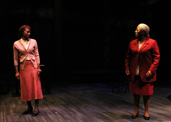 Nellie (Shá Cage) and Nellie Stone Johnson (Greta Oglesby) share a moment of reflection.