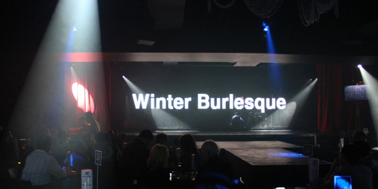 High Res Winter Burlesque on the video wall