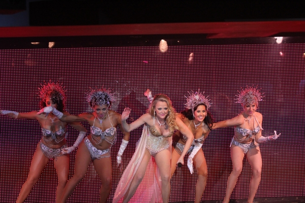 Lauren Gemelli, Samantha Berger, Angie Schworer, Jenny Gruby and Sarah Grooms in BURLESQUE IS BACK
