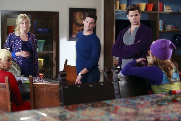 NeNe Leakes, Georgia King, Justin Bartha, Andrew Rannells at First Look at Tonight's Episode of THE NEW NORMAL