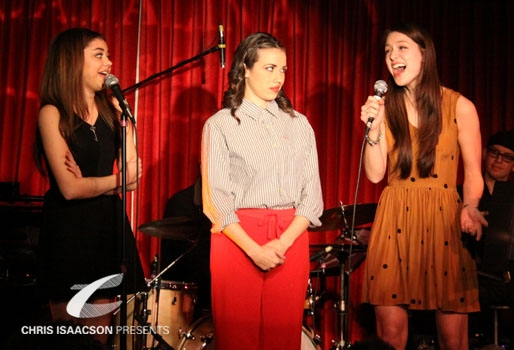 SARAH HYLANd, Miranda Sings (aka Colleen Ballinger) and Melissa Benoist at Upright Cabaret