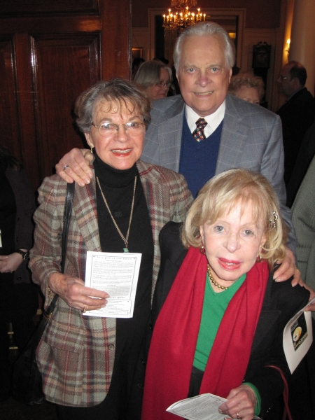 Florence Teuscher, Robert Osborne, Anita Jaffe at Inside Project Shaw's MISALLIANCE