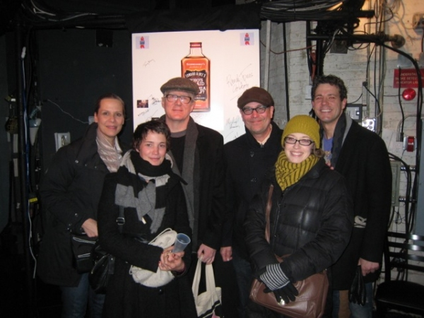 Amy Morton, Heidi Neurauter, Tracy Letts, Terry Kinney, Carrie Coon, Madison Dirks at Terry Kinney Visits WHO'S AFRAID OF VIRGINIA WOOLF?