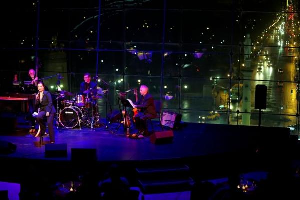 John Miller (bass), Lea Salonga, Dave Ratajczak (drums), Jack Cavari (guitar)