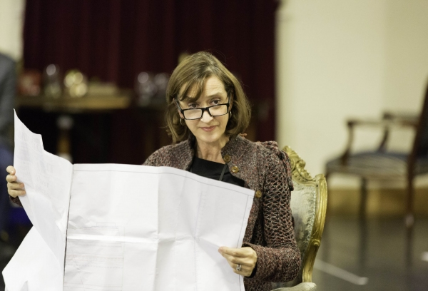 Photo Flash: First Look at Helen Mirren, Michael Elwyn and More in Rehearsals for West End's THE AUDIENCE