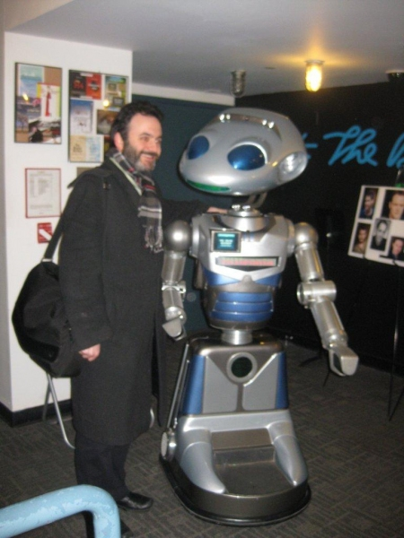 Director Eric Parness with Robot Millenna