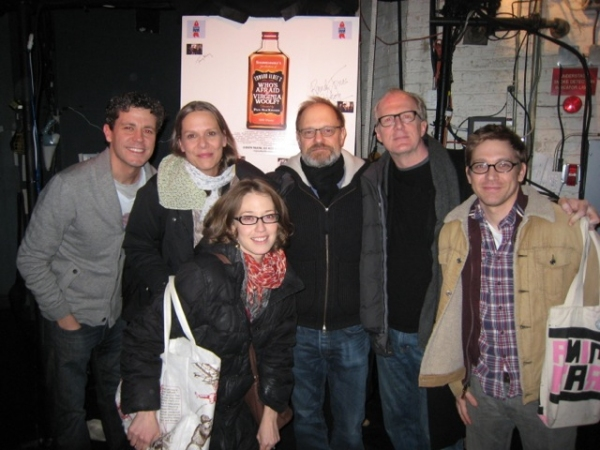 Madison Dirks, Amy Morton, Carrie Coon, David Hyde Pierce, Tracy Letts and Greg Pierce at David Hyde Pierce Visits WHO'S AFRAID OF VIRGINIA WOOLF?