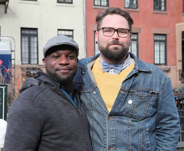 Playwright Ike Holter  & Director Eric Hoff   Photo