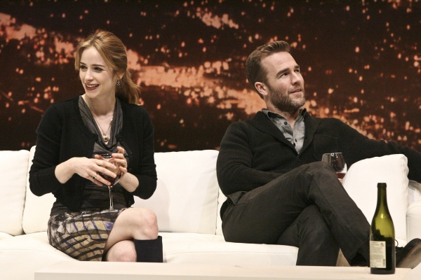 Jaime Ray Newman and James Van Der Beek