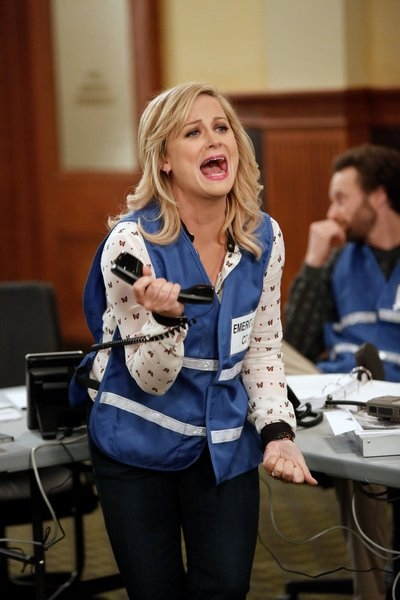 Amy Poehler at PARKS AND RECREATION's 'Emergency Response'