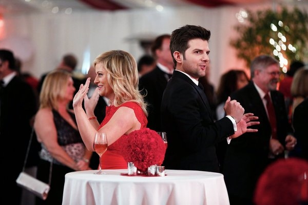 Amy Poehler, Adam Scott at PARKS AND RECREATION's 'Emergency Response'