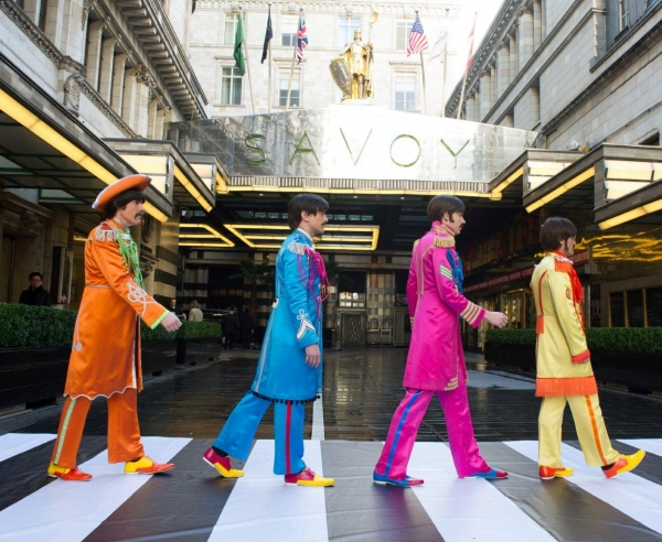 Photo Flash: Cast of West End's LET IT BE Recreates 'Abbey Road' Album Cover