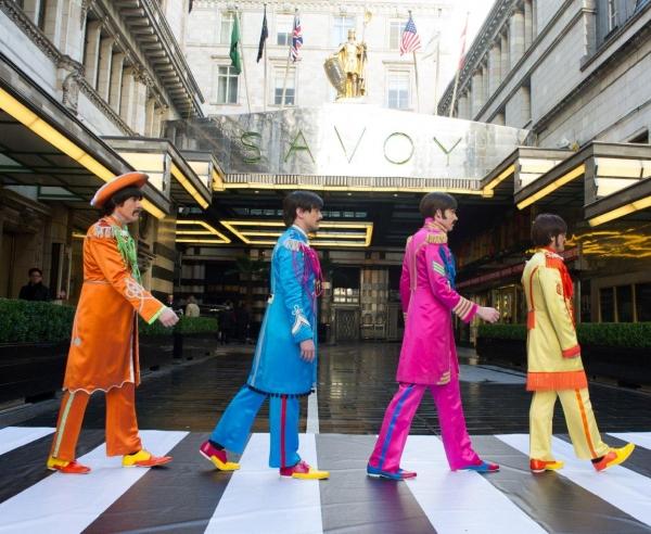 Photo Flash: Cast of West End's LET IT BE Recreates 'Abbey Road' Album Cover