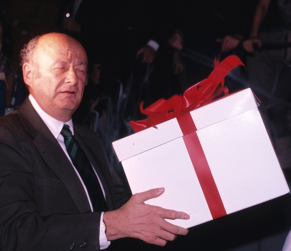Ed Koch presented with Roller Skates in New York City. 1981