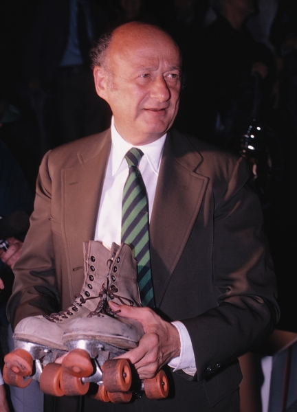 Ed Koch with Roller Skates in New York City. 1981