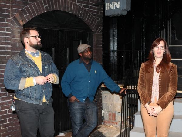 Eric Hoff (Director), Ike Holter (Playwright) & Lauren Helpern (Scenic Design) Photo