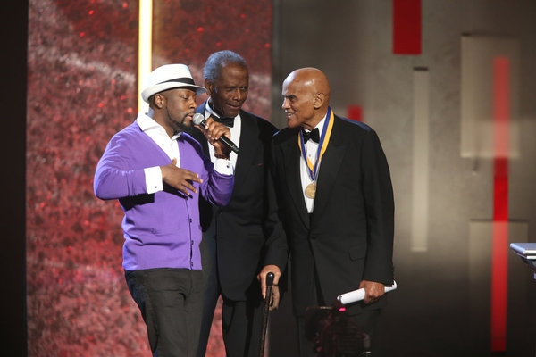 Wyclef Jean, Sidney Poitier, Harry Belafonte