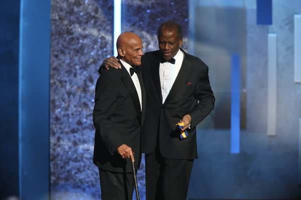 Harry Belafonte, Sidney Poitier  at Last Night's 44th Annual NAACP Image Awards