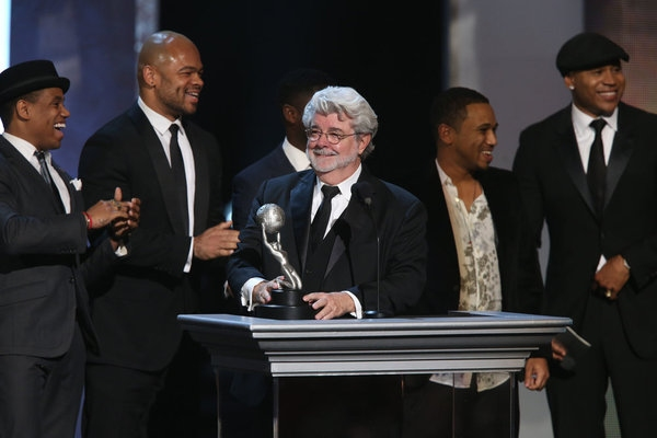 George Lucas, at Last Night's 44th Annual NAACP Image Awards