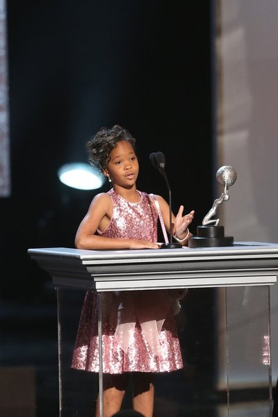 Quvenzhane Wallis at Last Night's 44th Annual NAACP Image Awards