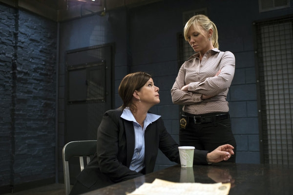 Marcia Gay Harden, Kelli Giddish at First Look - LAW & ORDER: SVU's 'Secrets Exhumed'