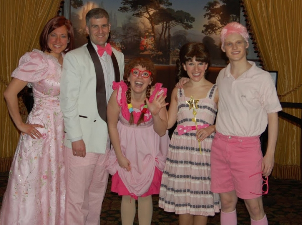 Amy Dolce (Mrs. Pinkerton and Butterfly 1); Matt Stashin (Mr. Pinkerton and a Bee); Christina Corsaro (Alison, Dr.Wink and Butterfly 2);  Audra Rizzo (Pinkalicious); Hans Paul Hendrickson (Peter)