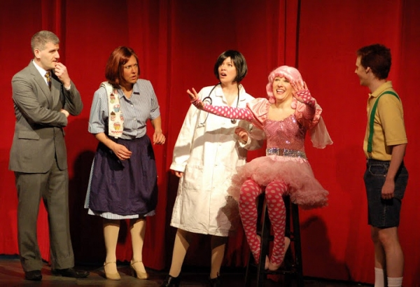 Matt Stashin (Mr. Pinkerton and a Bee); Amy Dolce (Mrs. Pinkerton and Butterfly 1); Christina Corsaro (Alison, Dr.Wink and Butterfly 2);  Audra Rizzo (Pinkalicious); Hans Paul Hendrickson (Peter)