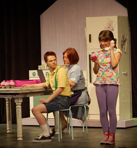 Hans Paul Hendrickson (Peter); Amy Dolce (Mrs. Pinkerton and Butterfly 1);  Audra Rizzo (Pinkalicious)