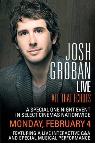InDepth InterView: Josh Groban Discusses ALL THAT ECHOES Album & Live Concert Event, Plus CHESS on Broadway?, GLEE & More