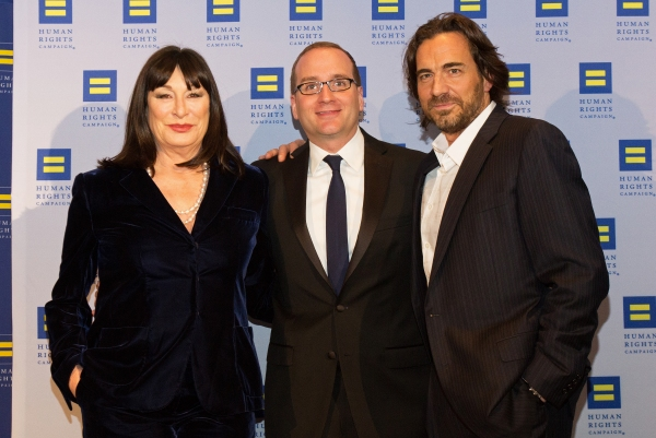 Anjelica Huston, Chad Griffin, Thorsten Kaye  Photo