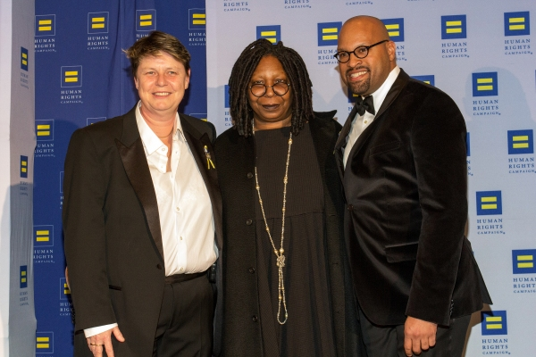 Jo Doyle, Whoopi Goldberg, John Rivers