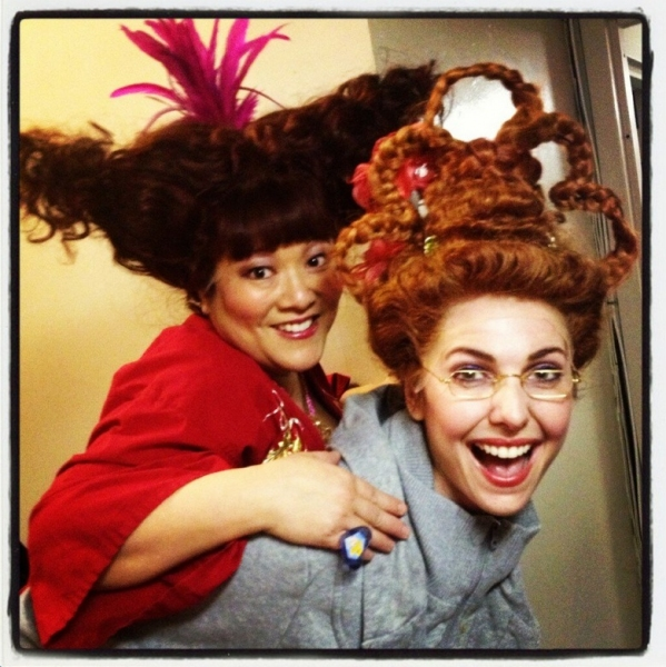 Photo Flash: Saturday Intermission Pics, Feb 2, Part 2 - CINDERELLA's Stepsisters, MORMON Wigs, HAIR & More!