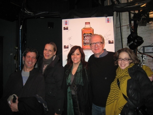 Madison Dirks, Amy Morton, Parker Posey, Tracy Letts, Carrie Coon at Parker Posey Visits WHO'S AFRAID OF VIRGINIA WOOLF?
