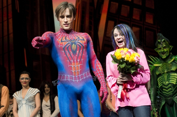 Photo Flash: SPIDER-MAN Cast Celebrates Super-Fan Christine Antosca
