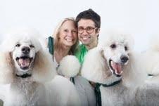 Karen LeFrak, Chase Brock and Puppies