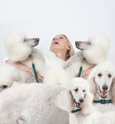 Karen LeFrak and Puppies