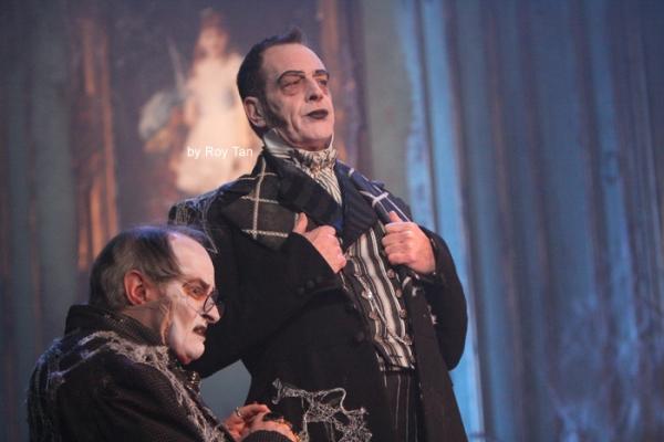 James Vaughan as Wopsle and Wemmick Jack Ellis as Jaggers