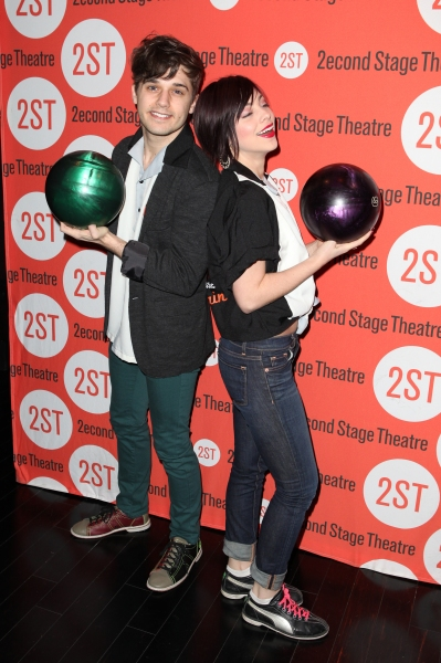 Andy Mientus & Krysta Rodriguez at Benjamin Walker, Andy Mientus & More at Second Stage's  Bowling Classic- Part One