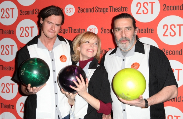 Benjamin Walker, Emily Bergl & Ciarin Hinds  at Bill Pullman, Rebecca Naomi Jones & More at Second Stage's  Bowling Classic- Part Two